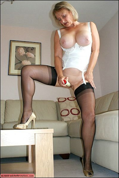 Horny housewives in stockings