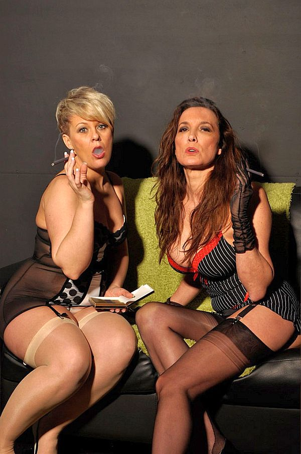 Nylon Jane – Dirty British Sluts Smoking In Their Lingerie, Stockings & Suspenders